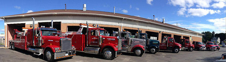 Image of several Kerhaert's Tow trucks from Greece NY 14615