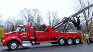 Brand new 50 ton wrecker owned by Kerhaert's towing-Greece NY