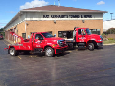 Picture of flatbed and medium duty tow trucks at Kerhaert's of Rochester