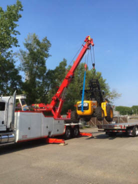 50 Ton sliding rotator lifting heavy all terrain forklift in Rochester NY