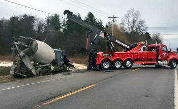 Towing and Recovery image of a cement mixer in Rochester NY
