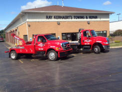 Flatbed and light duty towing image at Kerhaert's Towing and Auto Repair
